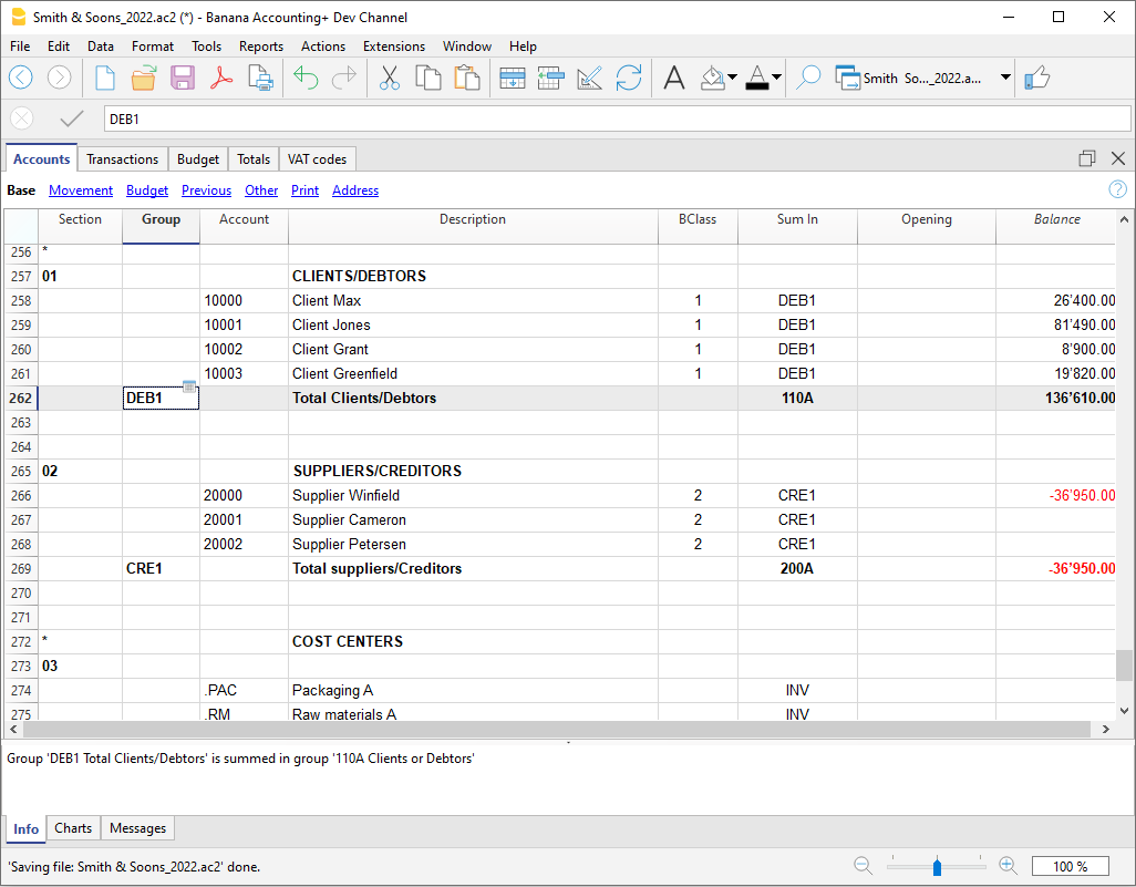 Customize Chart of Accounts