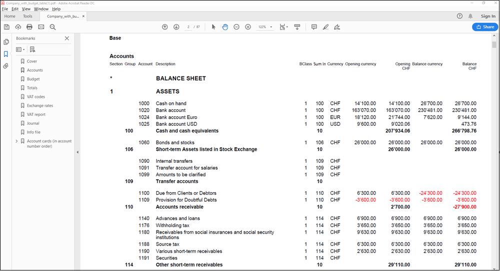 多币种记账的PDF报告