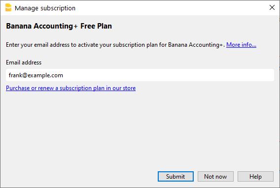Enter email address for activation