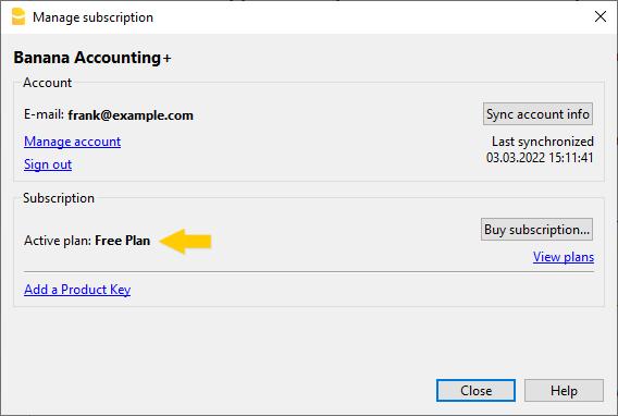 Hai associato il tuo email al programma e stai usando il piano Free