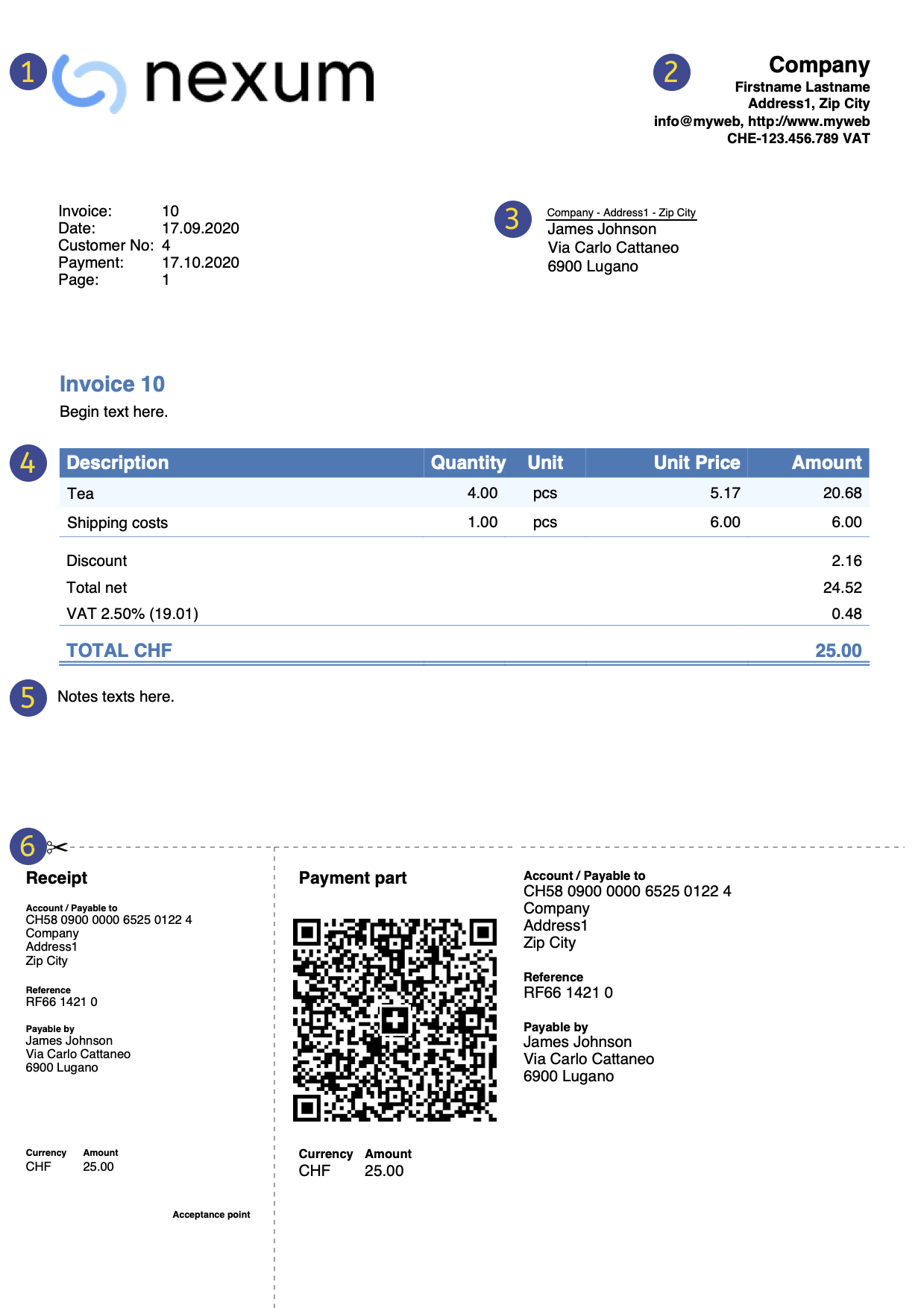 application invoice print preview