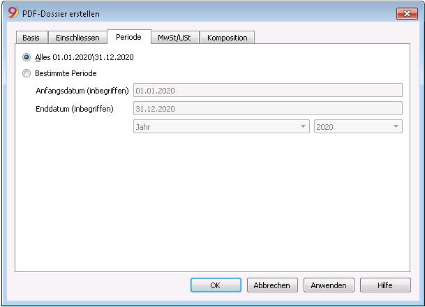 PDF-Dossier nach Periode erstellen