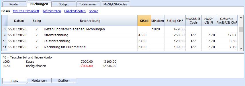 DB Sammelbuchungen mit MwSt