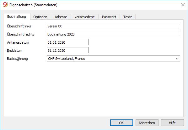 Neue Datei - Eigenschaften
